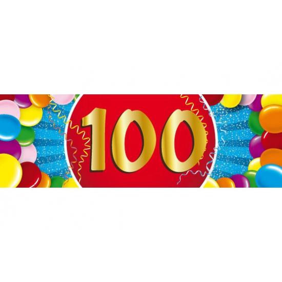 Leeftijd feestartikelen Shoppartners 100 jaar versiering sticker