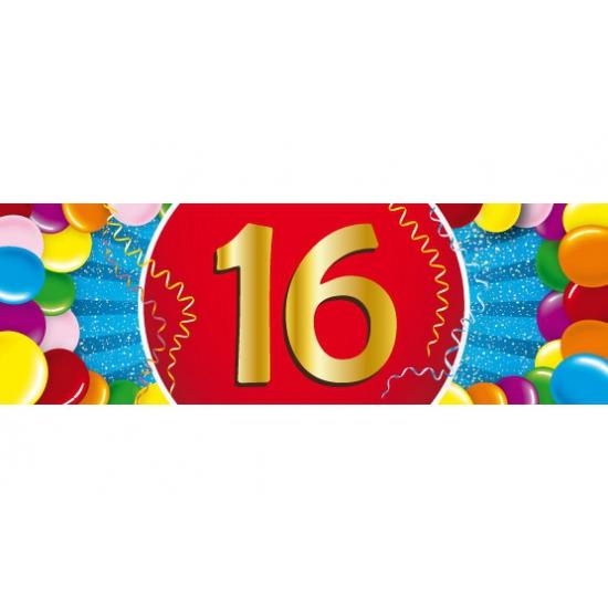 Leeftijd feestartikelen 16 jaar versiering sticker
