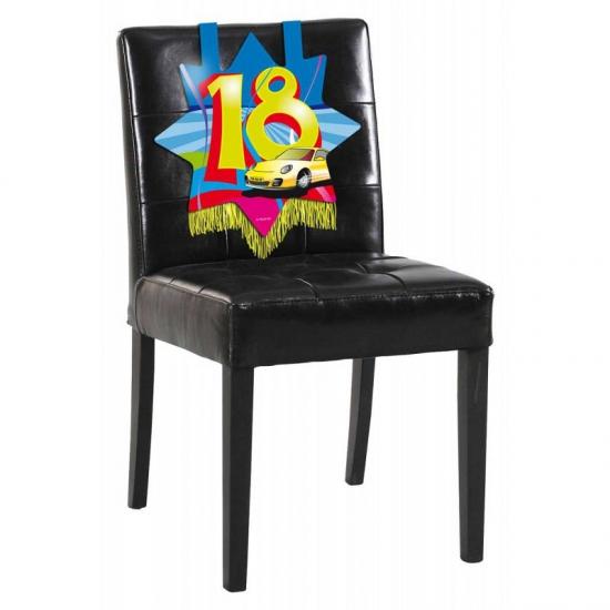 18 jaar decoratie voor aan de stoel