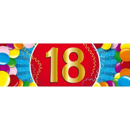 Shoppartners 18 jaar versiering sticker Leeftijd feestartikelen