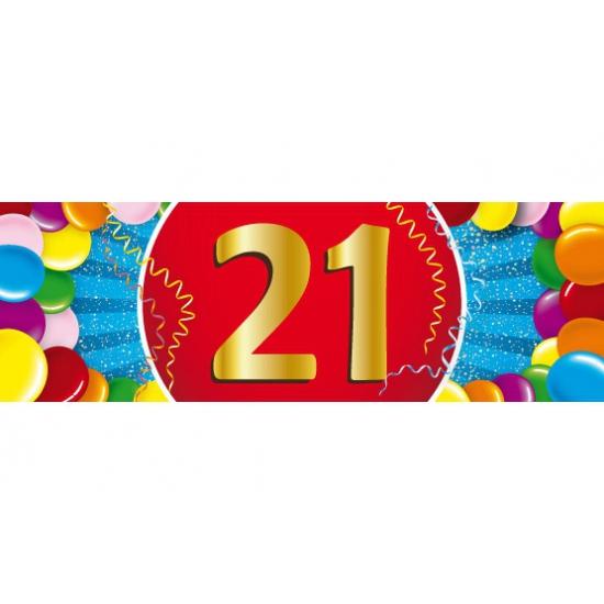 21 jaar versiering sticker Shoppartners Leeftijd feestartikelen