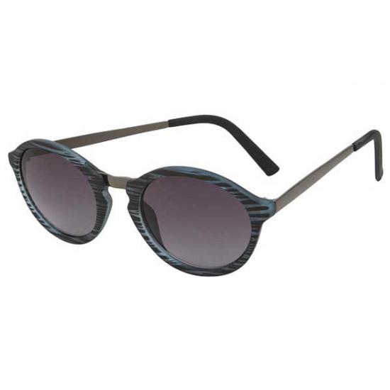 2180 zwarte woodlook zonnebril