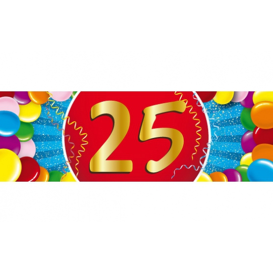 Leeftijd feestartikelen Shoppartners 25 jaar versiering sticker
