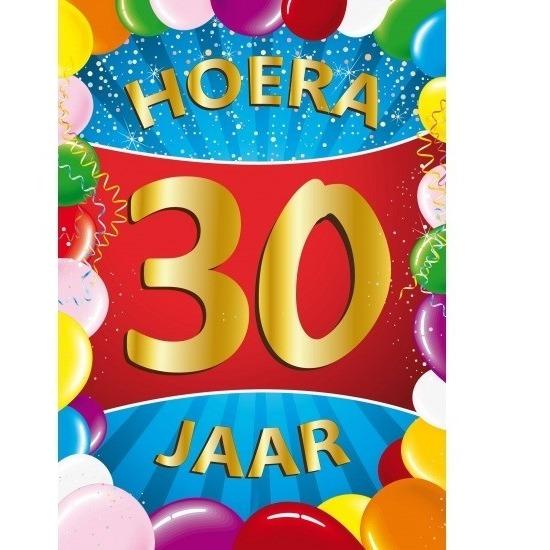 Leeftijd feestartikelen Shoppartners 30 jaar thema mega deurposter