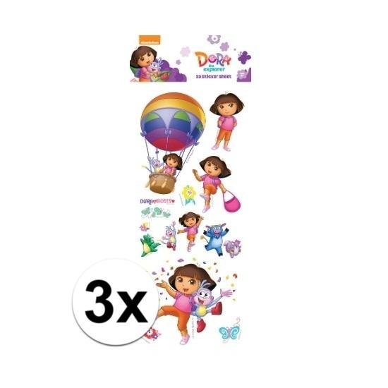 Schoolspullen Dora 3x Poezie album pop up stickers Dora