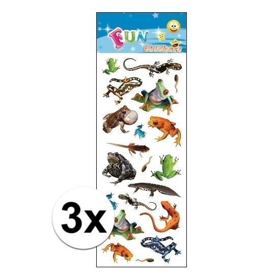 3x Poezie album stickers amfibieen Geen Schoolspullen