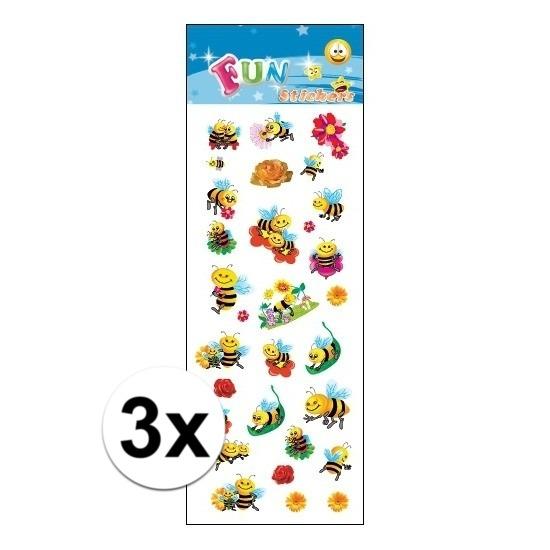 Schoolspullen Geen 3x Poezie album stickers bijen