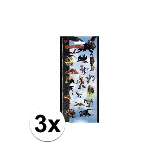 3x Poezie album stickers Dragons Geen goedkoop online kopen