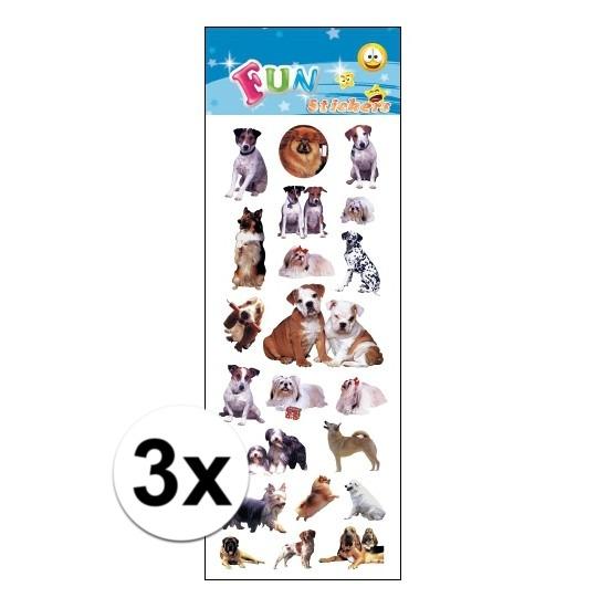 3x Poezie album stickers honden Geen Schoolspullen
