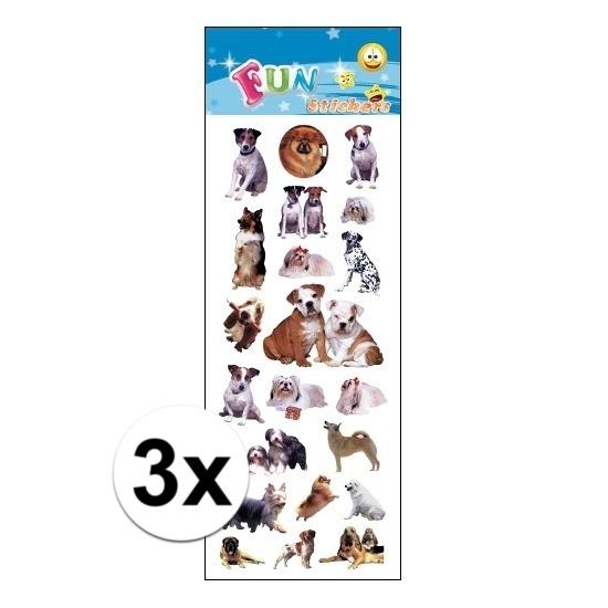 Schoolspullen 3x Poezie album stickers honden