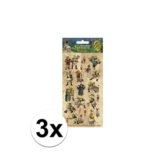 Schoolspullen 3x Poezie album stickers Shrek
