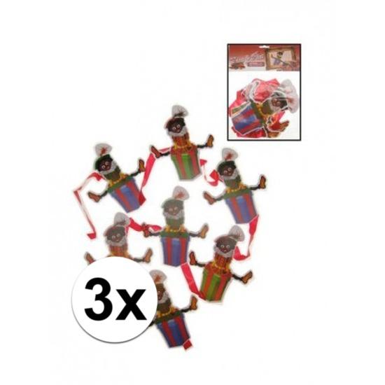 3x Zwarte Piet mobiel slinger
