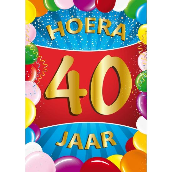 Leeftijd feestartikelen Shoppartners 40 jaar thema mega deurposter