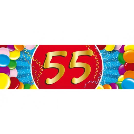 55 jaar versiering sticker Shoppartners Leeftijd feestartikelen