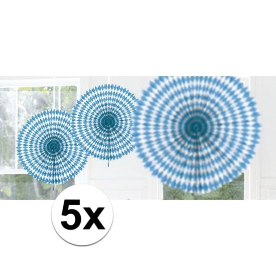 5x Bayern hangdecoratie waaier 45 cm