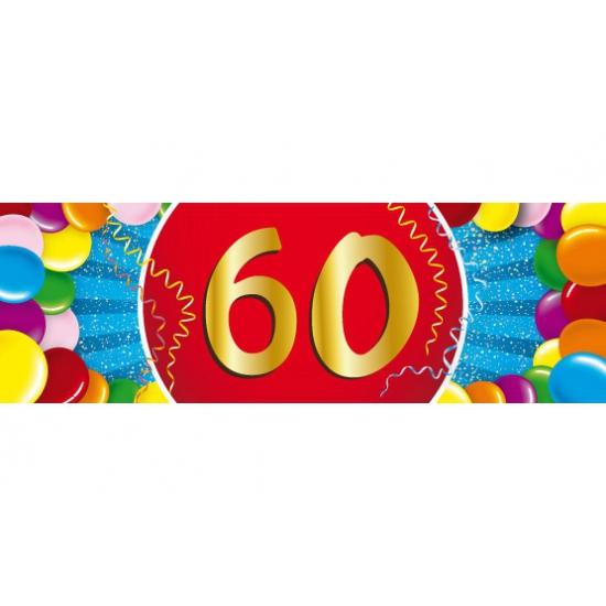 Leeftijd feestartikelen Shoppartners 60 jaar versiering sticker