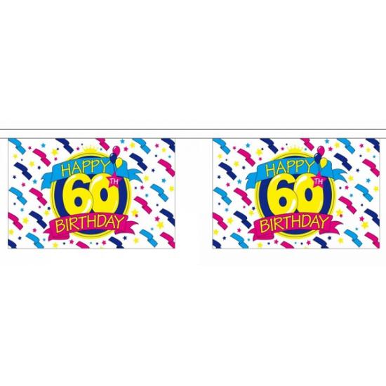 60e verjaardag slinger deluxe