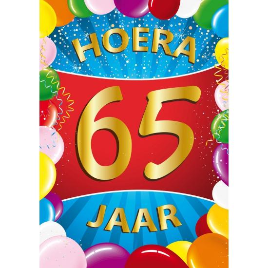 Leeftijd feestartikelen Shoppartners 65 jaar thema mega deurposter
