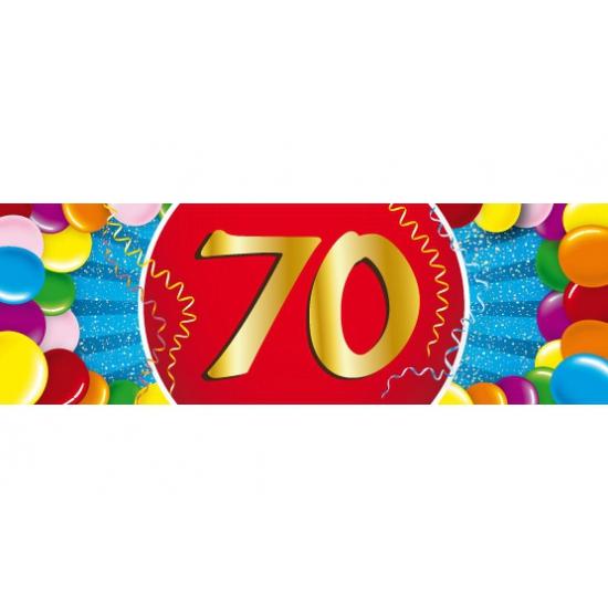 Leeftijd feestartikelen Shoppartners 70 jaar versiering sticker