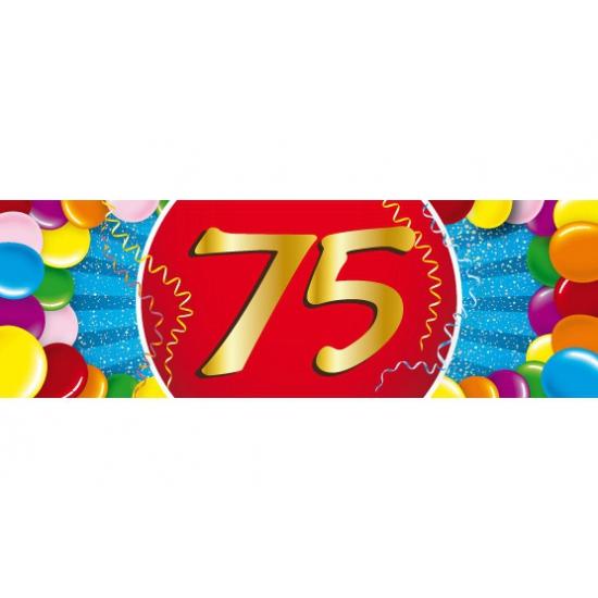 75 jaar versiering sticker Shoppartners Hoge kwaliteit