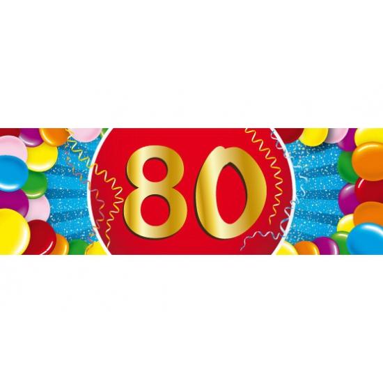 Leeftijd feestartikelen 80 jaar versiering sticker