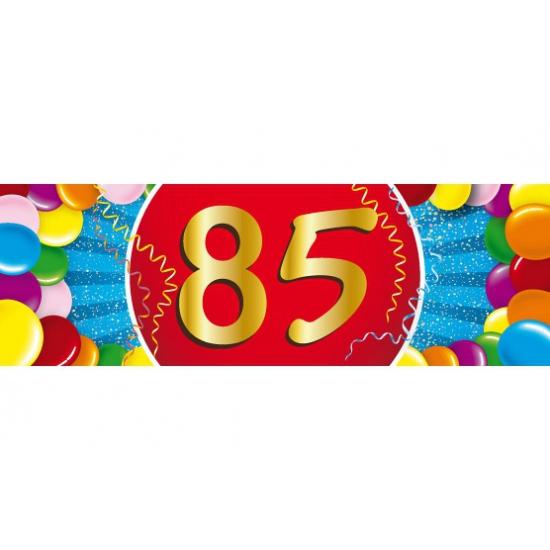 Shoppartners 85 jaar versiering sticker Leeftijd feestartikelen