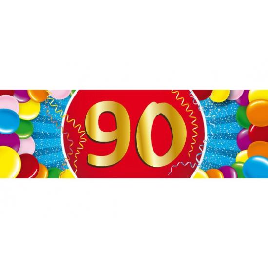 90 jaar versiering sticker Shoppartners Leeftijd feestartikelen