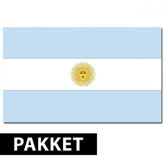 Argentinie decoratie pakket