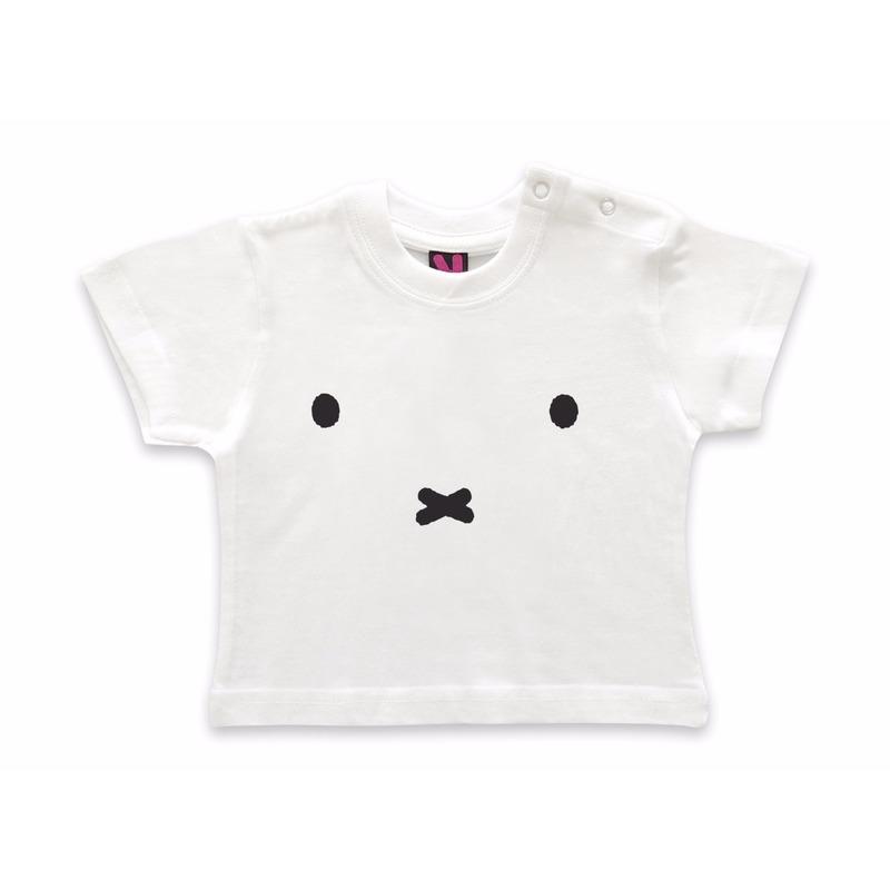 Baby t-shirt Nijntje witte snoet geboorte kado