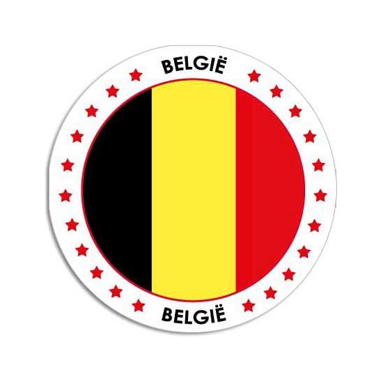 Landen versiering en vlaggen Shoppartners Belgie stickers