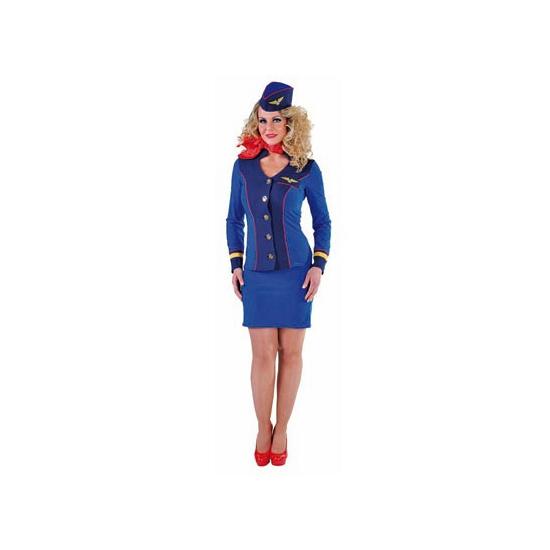 Blauw stewardess KLM mantelpakje