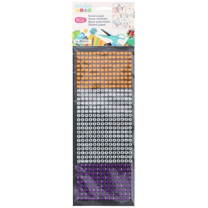 Hobby basismateriaal Bling Bling kinder stickertjes 3 kleuren