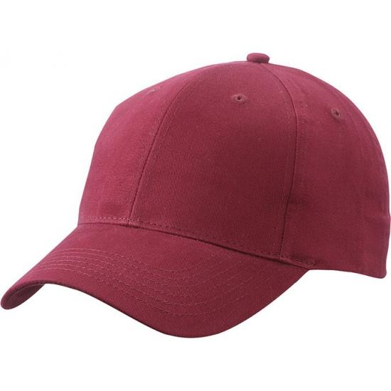Bordeaux rode baseball cap van katoen