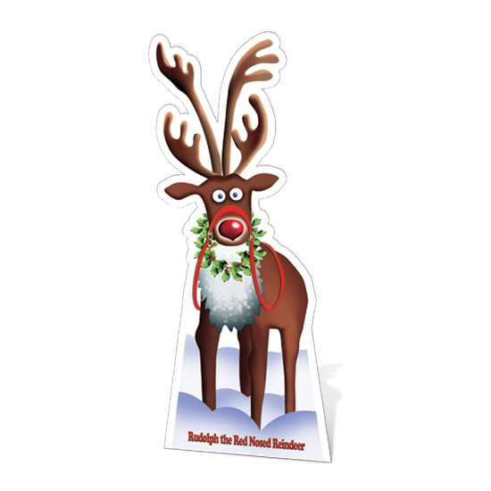 Cutout bord Rudolph the red nosed reindeer