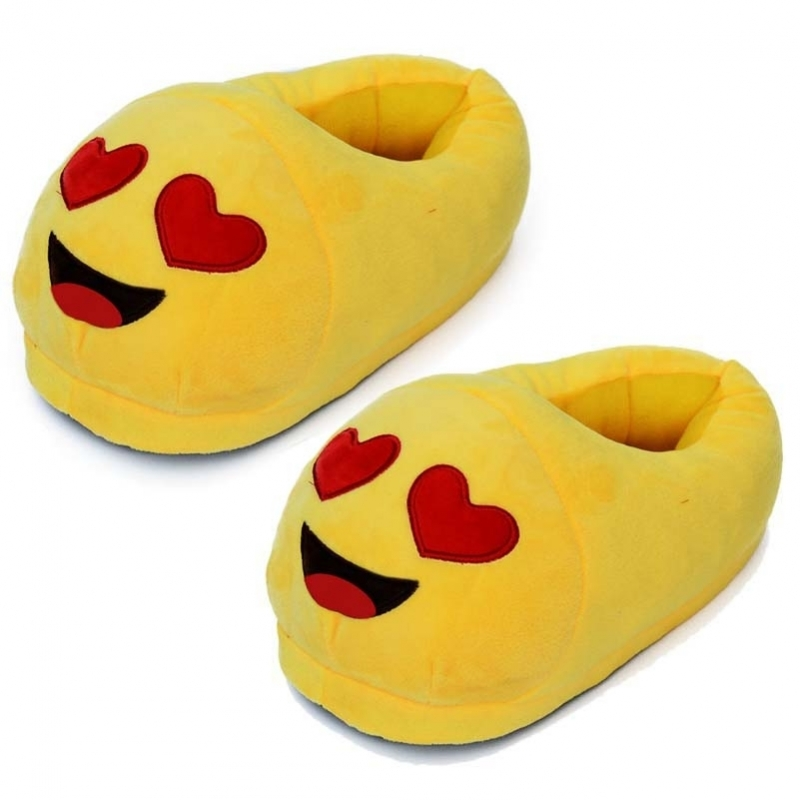 Dames verliefde smiley pantoffels