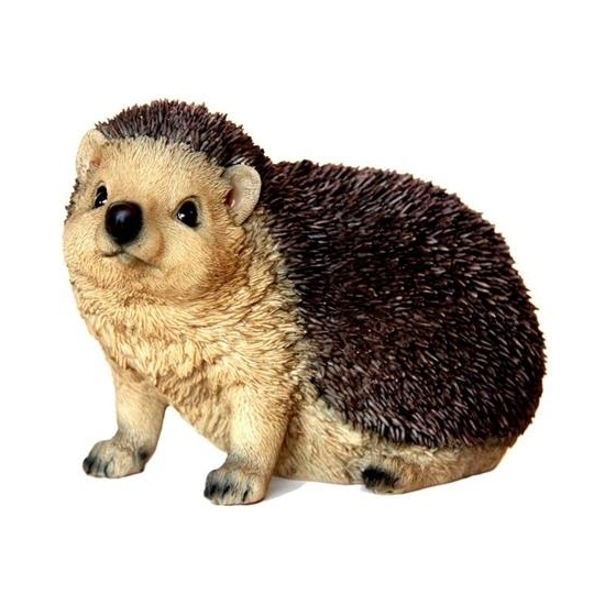 Decoratie beeld egel dier 16 cm