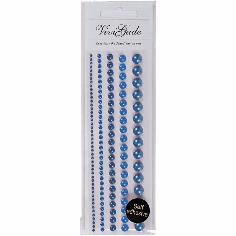 Decoratieve blauwe parel stickers 140 stuks Geen laagste prijs