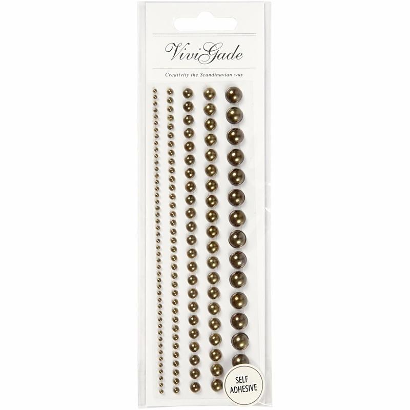 Geen Decoratieve bruine parel stickers 140 stuks Decoratie materialen