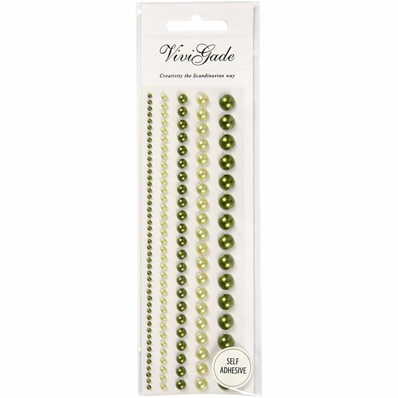 Decoratie materialen Geen Decoratieve groene parel stickers 140 stuks