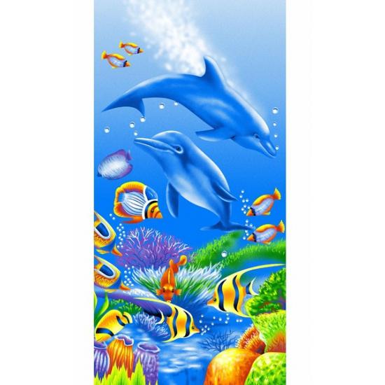 Dolfijn strandlaken 75 x 150