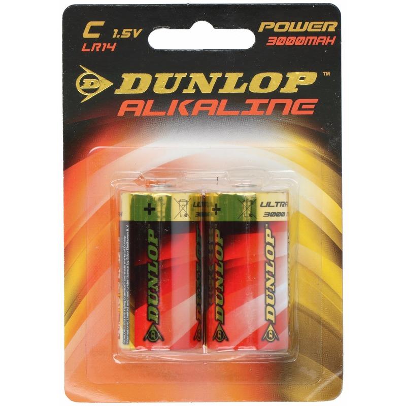 Dunlop 1,5 volt batterijen 2 stuks