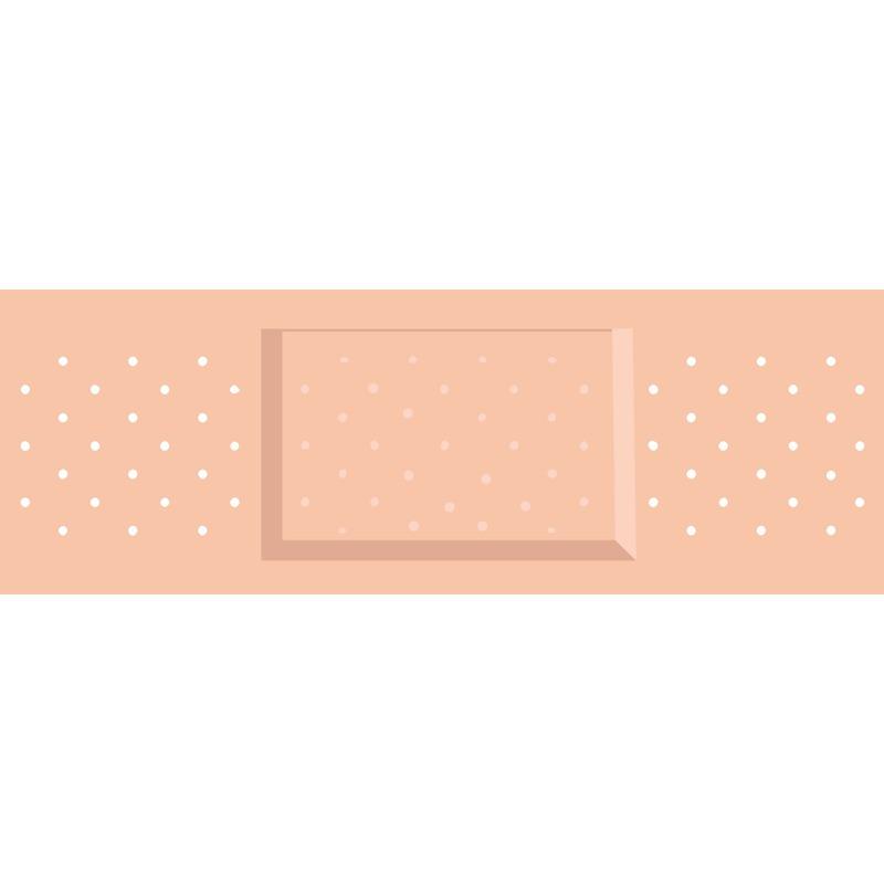 Feestartikelen diversen Shoppartners Feest pleister sticker 6 x 19 cm