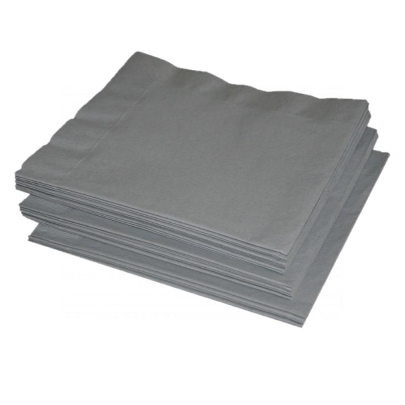 Feest servetten zilver 41 x 41 cm