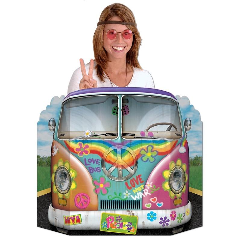 Geen Foto hippiebus 94 x 63 cm Thema feestartikelen