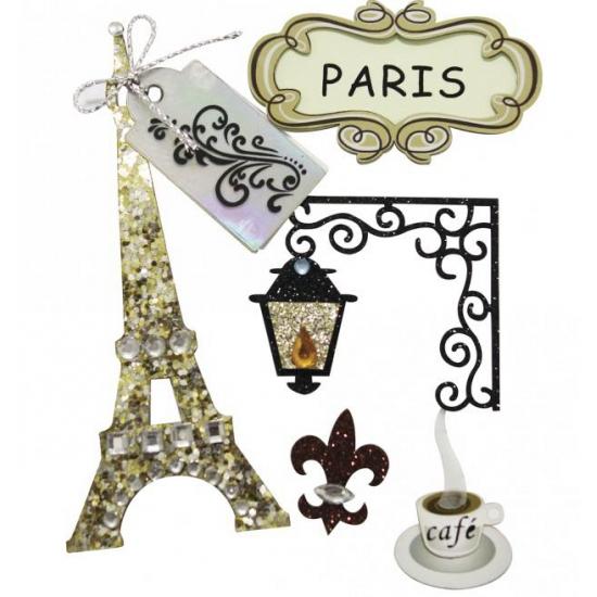 Fotoalbum stickers Parijs Rayher hobby materialen Premier