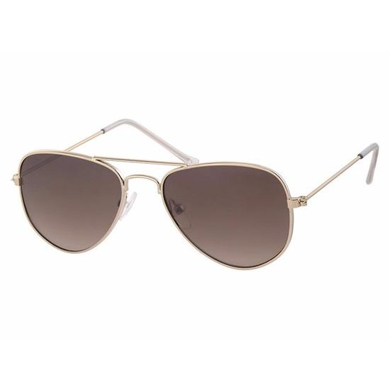 Gouden baby-peuter piloten zonnebrillen model 3000