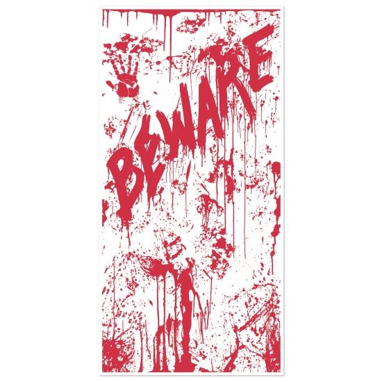 Halloween deurposter Beware Geen goedkoop online kopen