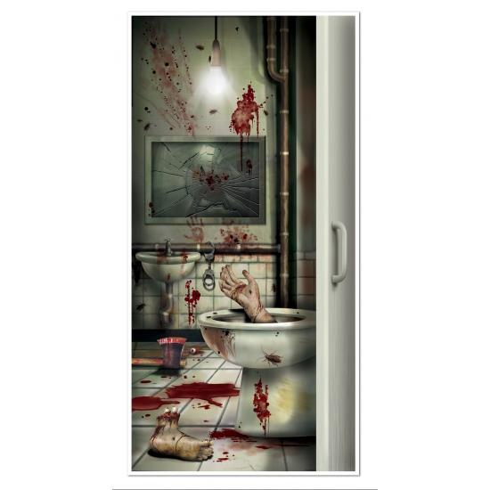 Halloween feestartikelen Halloween deurposter bloed badkamer
