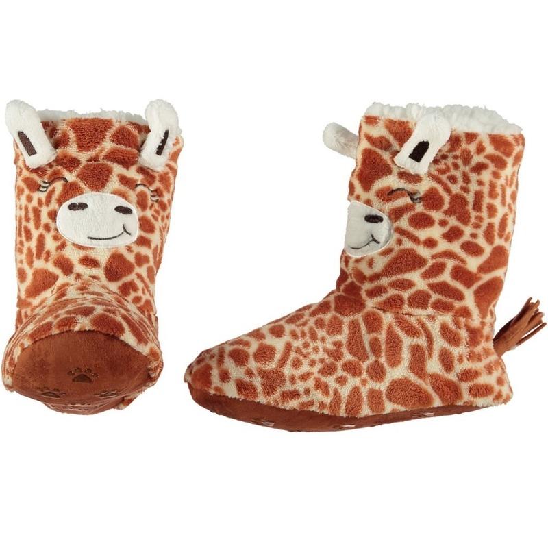 Hoge huispantoffels/sloffen giraf voor kinderen