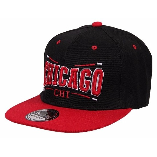 Honkbal pet Chicago Bulls zwart/rood